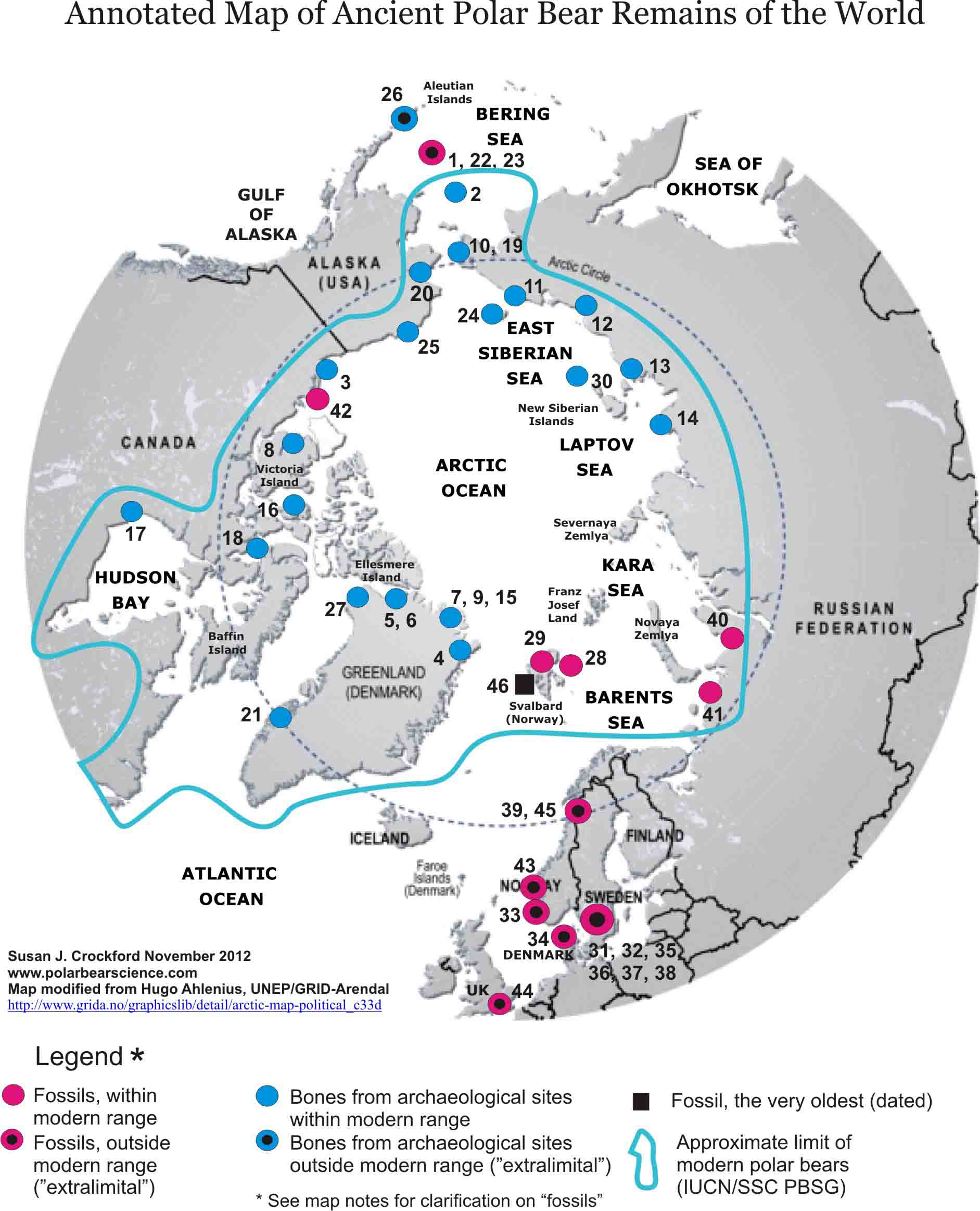 Polar bear history polarbearscience see map notes on pdf gumiabroncs Images