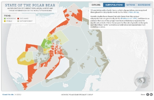 """Subpopulation"" status, from the Polar Bear Specialist Group special tool, ""The State of the Polar Bear."" downloaded January 17, 2013"