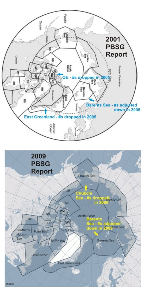 Global population of polar bears has increased by 2,650-5,700 since 2001 (1/2)