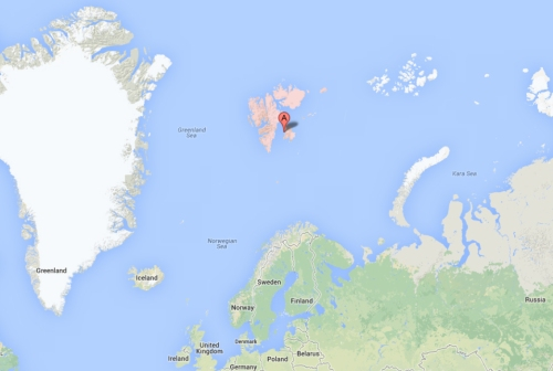 Svalbard, from Google maps