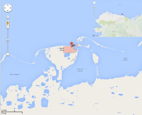 Figure 1. Kaktovik, Alaska, from Google maps.
