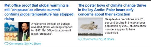 Mail on Sunday_Temp pause and polar bears_Sept 29 2013