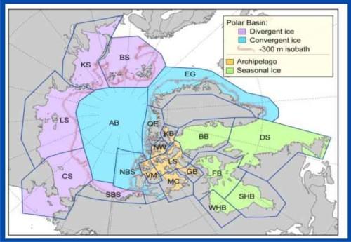 Rode et al 2013_Polar bear regions by ice type