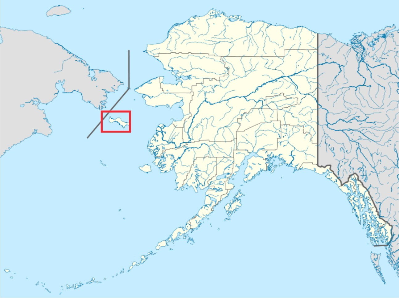 St Lawrence Island Alaska Map