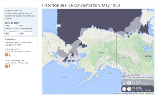 UAF Sea ice atlas_May 1958 screenshot