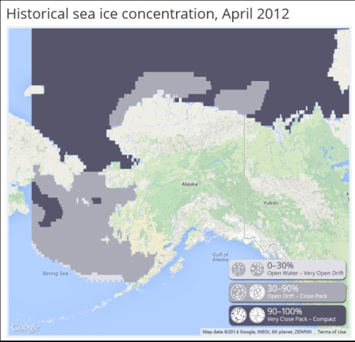 Chukchi-Beaufort sea ice atlas: check out polar bear habitat 1850-2013