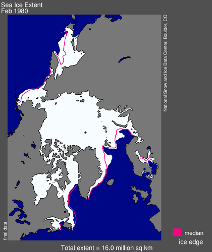 Sea ice extent 1980 February average_NSIDC