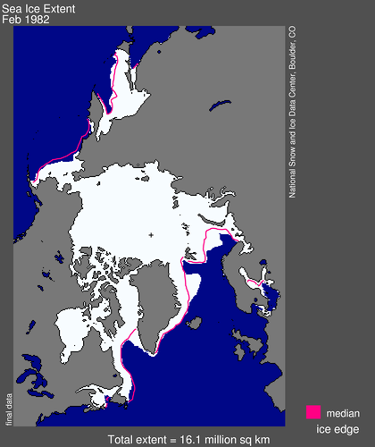 Sea ice extent 1982 February average_NISDC