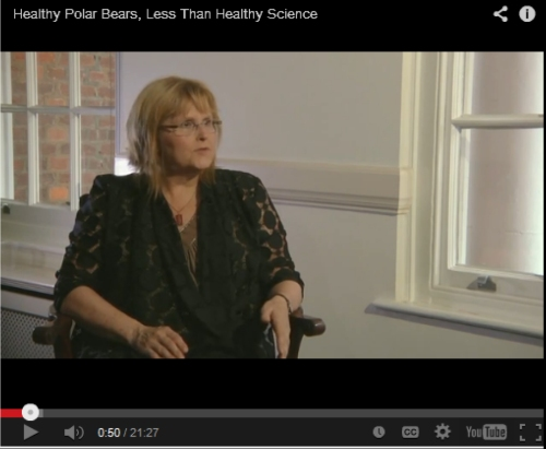 Healthy Polar Bears Less Than Healthy Science GWPF interview screencap June 11 2014