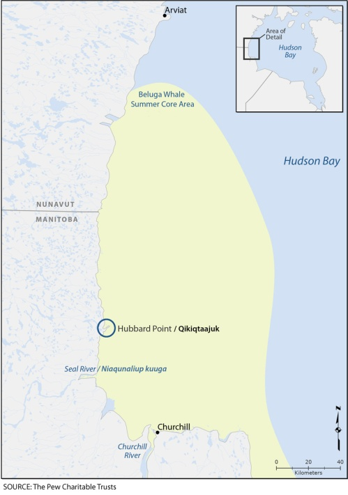 Hubbard Point Location Map with summer core area v1
