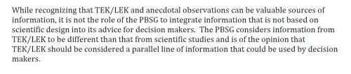 PBSG 2014 TEK statement