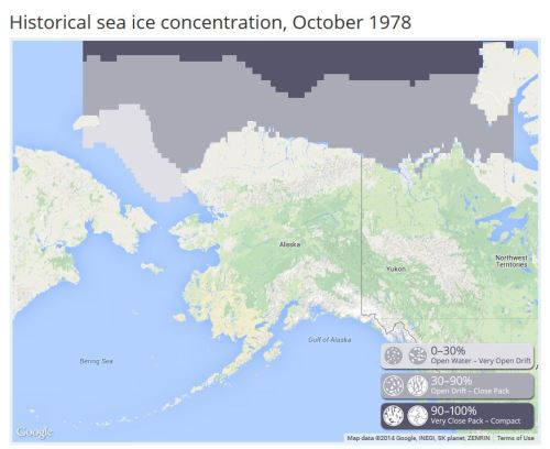 1978 October Sea ice atlas UAF_PolarBearScience