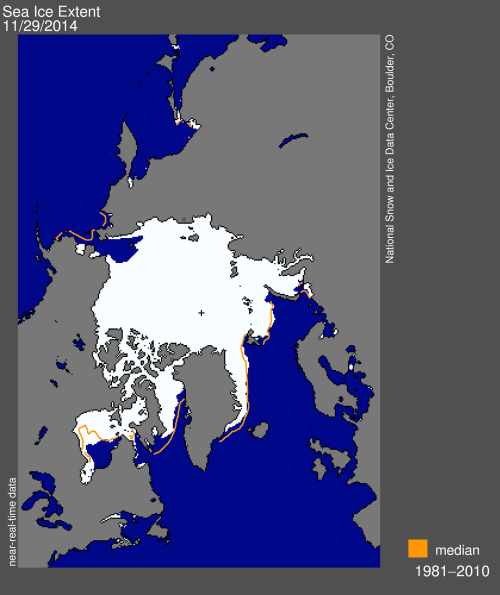 Sea ice extent 2014 Nov 29_NSIDC
