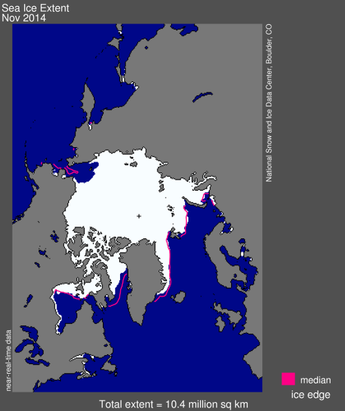 Sea ice extent 2014 Nov average_NSIDC Dec 2_lg