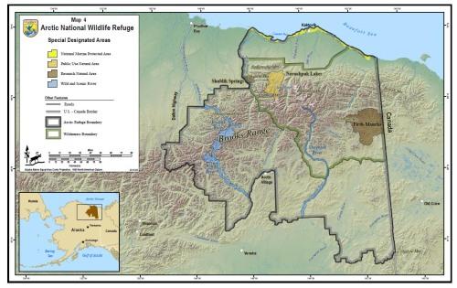 Arctic Nat Wildlife Refuge proposed_USFWS_map 4 designated areas