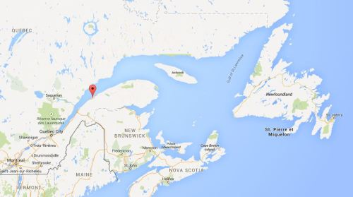 Rimouski_St Lawrence polar bear location Feb 2015