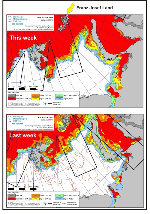 Barents Sea ice coverage March 18 vs 26_2015_PolarBearScience