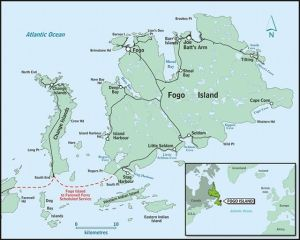 Fogo, Fogo Island, Newfoundland. From the town website.