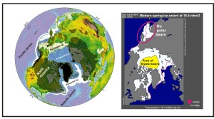 Sea ice at LGM vs modern sea ice 1979 March_April 15 2015