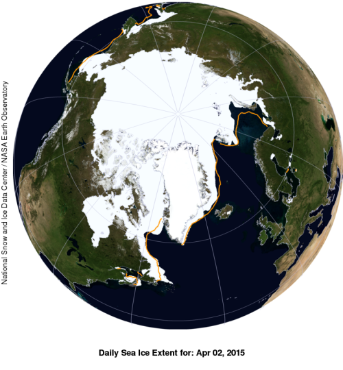 Sea ice extent global 2015 April 2 NSIDC with anomaly WUWT