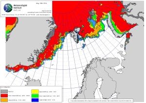 Barents Sea ice 2014_19 May_NIS