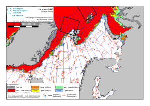 Barents Sea ice plus East Greenland 2015 May 19_NIS