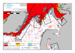 Barents Sea ice plus East Greenland 2015 May 8_NIS