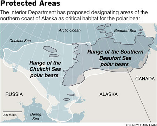 Designated Critical Habitat For Alaskan Polar Bears Offers No - Ak overlap us map