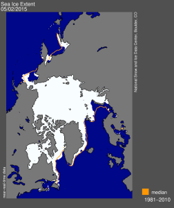 Figure 4. NSIDC map for 2 May 2015.