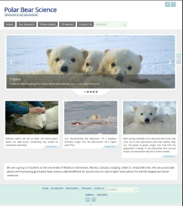 Derocher lab website home_July 5 2015