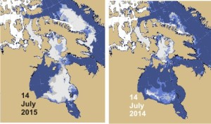 Hudson Bay breakup 2015_2014_14 July