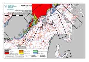 Barents Sea ice extent 2015 Aug 26_NIS
