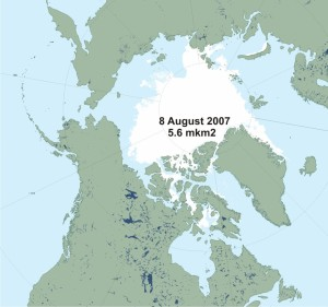 Sea ice at 2007 Aug 8_polarbearscience