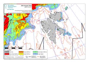 Svalbard ice extent 2015 August 26_NIS