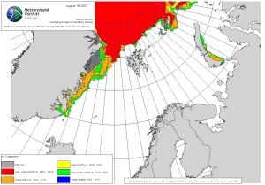 Svalbard sea ice 2007 August 7_NIS