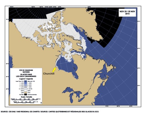 Sea ice Canada 25 Nov 2015_with Churchill