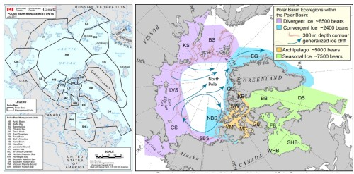 Sea ice ecoregions vs EC subpopoulations_PolarBearScience_March 22 2015