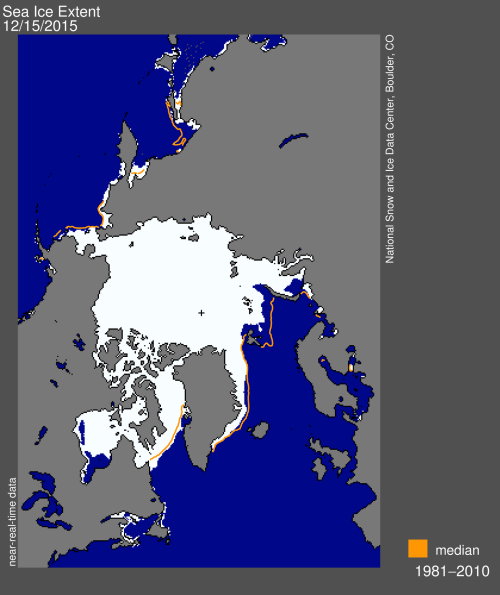 Sea ice extent 2015 Dec 15 NSIDC