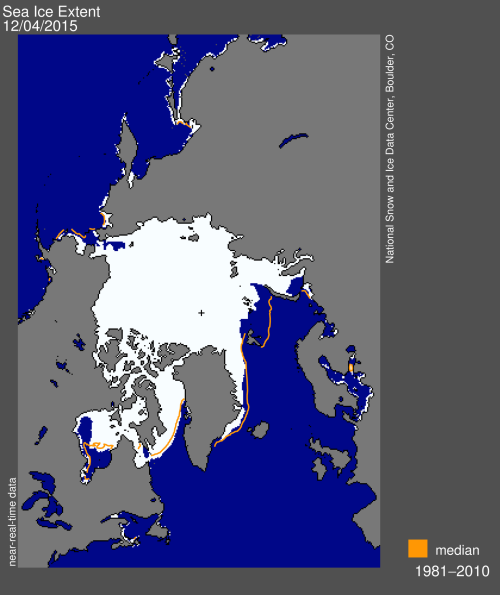 Sea ice extent 2015 Dec 4 NSIDC