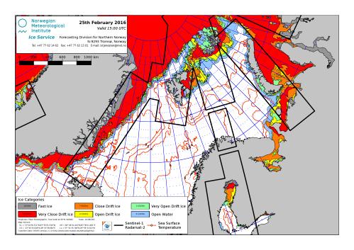 Barents Sea ice extent 2016 Feb 25_NIS