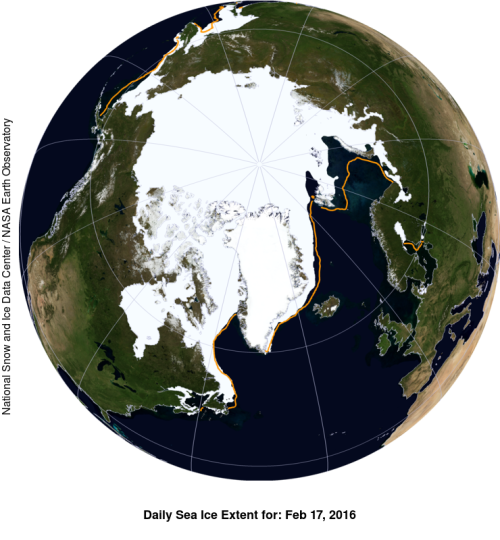 Sea ice extent 2016 Feb 17 NSIDC_sm WUWT