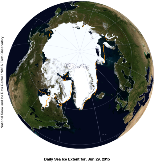 Sea ice extent 2015 June 29_label WUWT