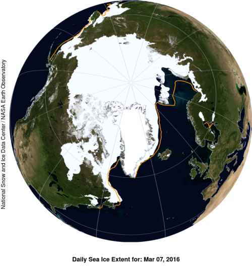 Sea ice extent 2016 March 7 NSIDC_sm WUWT