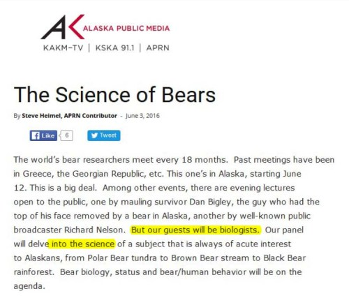 APM_The Science of Bears_June 7 2016 radio screencap_at 5 June marked