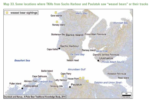 Inuvialuit Nanuq Polar Bear Traditional Knowledge 2015_Map 33 pg 130