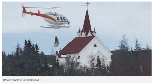 St brendan's bear airlifted out 5 April 2017 VOCM 5 PM