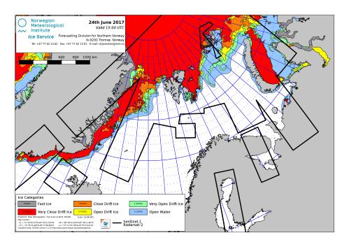 Barents Sea ice extent 2017 June 24_NIS