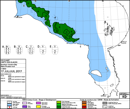 Hudson Bay south daily ice stage of development 2017_July 17