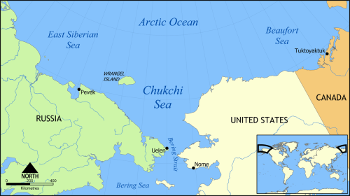 Chukchi_Sea_map Wrangel Island