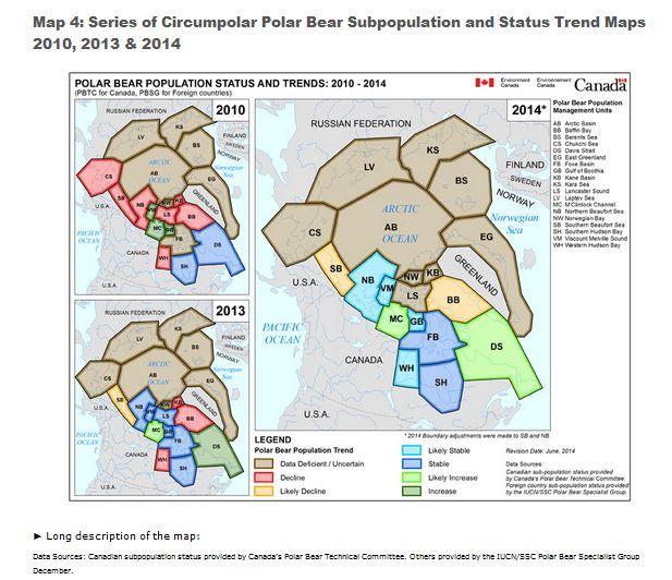 EC_PolarBearStatus_and Trends_2010-2014 MapsCanada_Oct 26 2014
